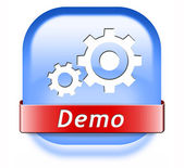 Demo button — Stock Photo