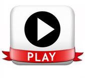 Play-knappen — Stockfoto