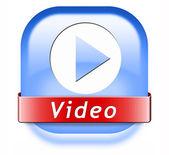 Jogar botão de vídeo — Fotografia Stock