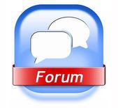 Forum button — Stock Photo