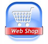 Веб магазин кнопка — Стоковое фото