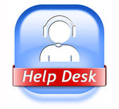 Help desk button — Stock Photo