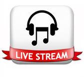 Music live stream button — Stock Photo