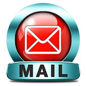 Mail button — Stock Photo