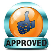 Approved icon — Stock Photo