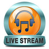 Live stream music — Stock Photo