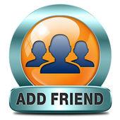 Add as friend — Stock Photo