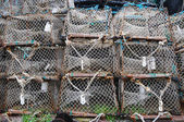 Lobster fishing pots — Stock Photo