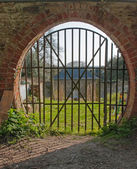The Round Garden Gate — Stock Photo