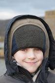Happy hoody boy — Stock Photo
