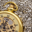 Stock Photo: Antique mechanical pocket watch.