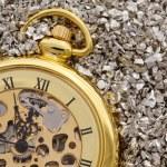 Antique mechanical pocket watch. — Stock Photo
