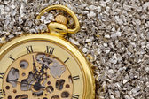 Antique mechanical pocket watch. — Stock Photo