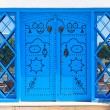 Stock Photo: Ornamental Blue Doors.