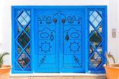 Ornamental Blue Doors. — Stock Photo