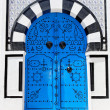 Stock Photo: Ornamental Blue Door.