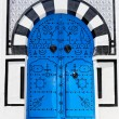 Ornamental Blue Door. — Stock Photo