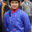 Stock Photo: Thoroughbred Jockey Mario Gutierrez