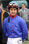 Thoroughbred Jockey Mario Gutierrez — Stock Photo