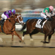 Close Hatches Wins Gazelle Stakes — Stock Photo #23893709