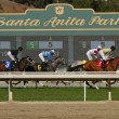 Racing at Historic Santa Anita Park — Stock Photo