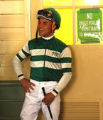 Thoroughbred Jockey Joel Rosario — Stock Photo