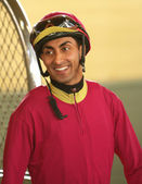 Thoroughbred Jockey Edwin Maldonado — Stock Photo