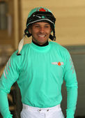 Thoroughbred Jockey Orlando Mojica — Stock Photo