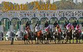 Santa Anita Park Gate Break — Stock Photo
