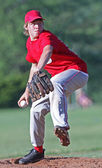 Determined Baseball Pitcher — Stok fotoğraf