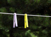 Clothes-Pegs — Foto Stock