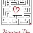 Greeting card for Valentine's Day — Vettoriale Stock