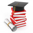 Illustration on the theme of the end of the educational process — Stock Photo #21871711