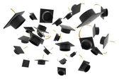 Graduation hat on white background — Stock Photo