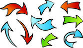 Vector arrows — Stock Vector