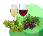 Red and whit wine — Stock Photo