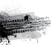 Däck spår — Stockvektor
