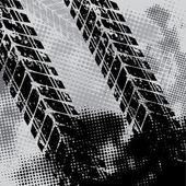 Grunge tie track background — Vettoriale Stock