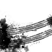 černá pneumatika stopa — Stock vektor