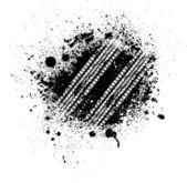 Chapoteo de pista del neumático — Vector de stock