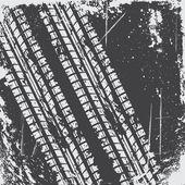 Pozadí stopy pneumatik — Stock vektor