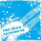 Blue tire track backgound — Stock Vector