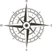 Rosa dei venti — Vettoriale Stock