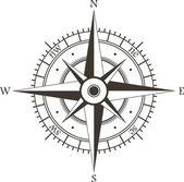 Windrose — Stockvektor