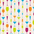 Seamless stemware background — Stockvectorbeeld