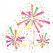 Firework outline - Stock Vector