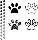 Animal footprint — Stock Vector