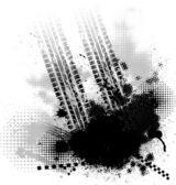 Tire track black background — Stock Vector