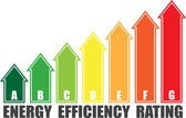 Energy efficiency arrows — Stockvektor