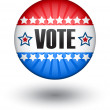 Royalty-Free Stock Vector Image: USA vote sign